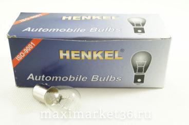 Автолампа P215W (BA15d - двухконтактная) 12V HENKEL 101000 HIT