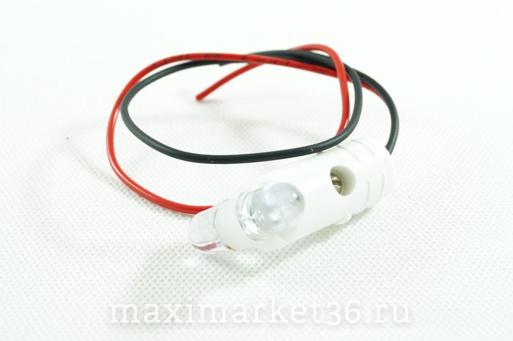 Автолампа P21W (BA15s) одноконт В РОГА бело-белая +провод (диод) 24V