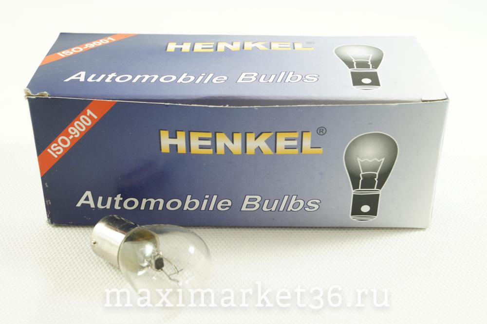 Автолампа P21W (BA15s-одноконтактная) 12V HENKEL 101000 HIT