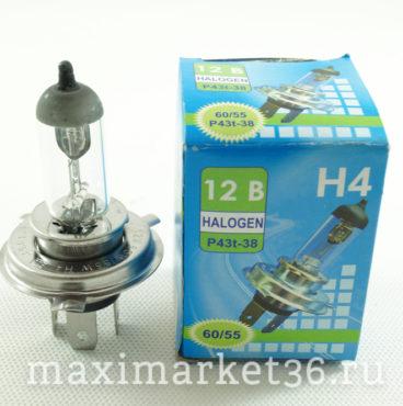 Автолампы H4 (12-6055) P43t-38 12V Брест (БЕЛСВЕТ)