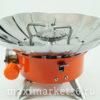 Газовая плитка Розочка малая K-203 с ветрозащитой Корея