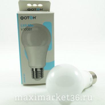 Лампа LED (диодная) A ASD 12 Вт 220В E27 4000К холодный свет