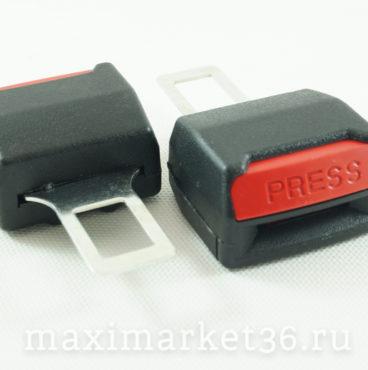Отключатель сигнализации ремня безопасности 2шт набор (металлич.+защёлка для ремня) TYPE-R ZB-002