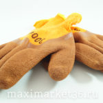 Перчатки НЕЙЛОН-ПЕНА(для стекольщиков) (10 упак)оранж+коричн пена 300#