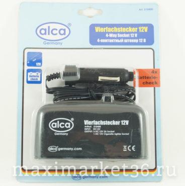 Разветвитель в прикуриватель 1+2 USB Alca 510 10