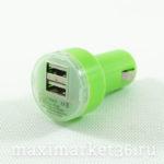 Штеккер прикуриват. с 2 USB(1,1А. 2,1А) РАДУГА В БЛИСТЕРЕ