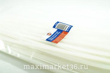Хомут крепления проводов пласт 8х400 ( хомут ШРУСа большой.)белый М5 08400б