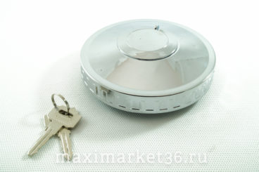 Крышка бензобака MERCEDES с замком 80 мм металл.хром(защита ключа) MAN VOLVO SCANIA DA-00819