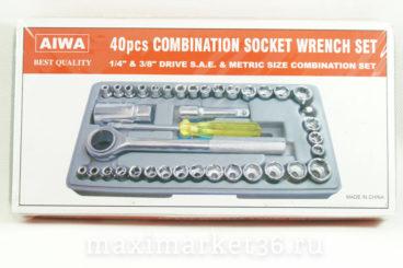 Набор головок AIWA 40 предметов (метал)