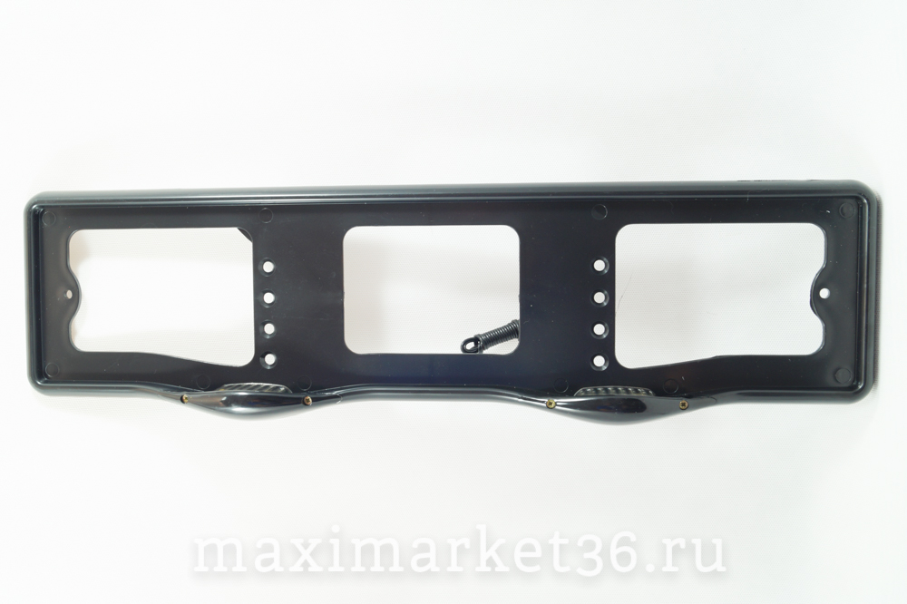 Рамка номерного знака AB-001 BLACK с верхней подсветкой 125