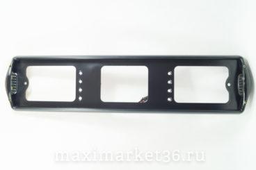 Рамка номерного знака AB-002 BLACK с боковой подсветкой 120