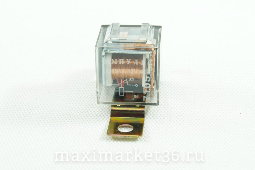 Реле замыкающее 4-х конт. Импульс , 12В. 40А с индикацией герметичное 7105