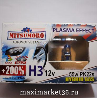 Автолампы H3 (12 -55) YAMAHATO +200% Laser Effect 2шт-компл