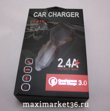 АЗУ(штек прик)  1 USB, 2,4A  QUICK CHARGE  3.0 (БЫСТРАЯ ЗАРЯДКА) BOX  LZ-KC08