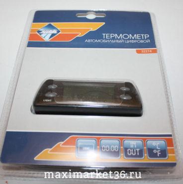 Термометр  NOVA BRIGHT (ВТ19) чёрный с подсветкой 32274