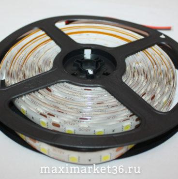 Лента подсветки  диодная  5 метров 11W 3528-300 SMD-5М ЗЕЛЁНАЯ (белая.основа)12V М5  123003528зб