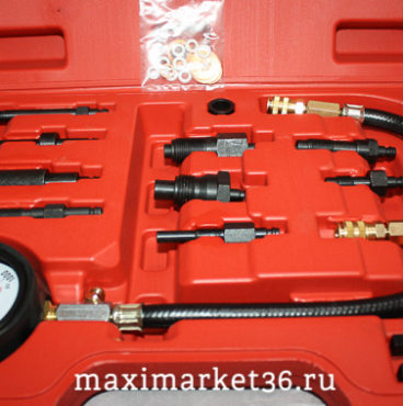 Компрессометр для Дизельных  двигателей 12 предметов  в кейсе МА  м912