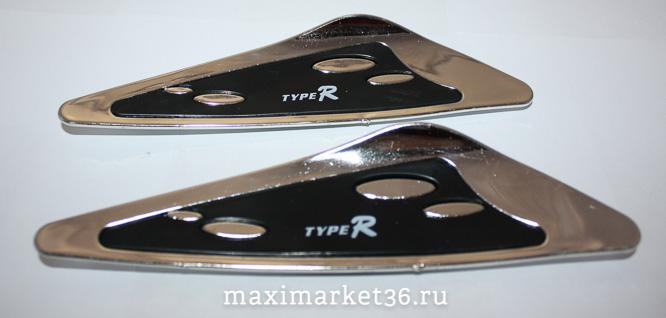 Спойлер  дворника  декоративный 2 цвета (чёрный+хром) (с металлич вставкой