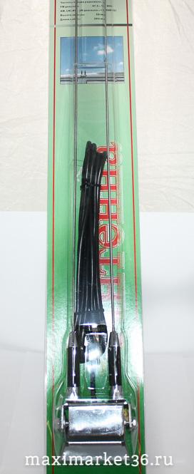 Антенна 309 СHROME на желобок двухлучевая 50см (AM/FM) кабель 300см FK /1/12/48 HIT